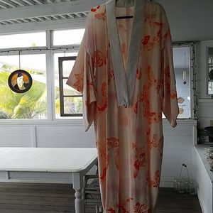 Other - Authentic creamsicle colored Butterfly  Kimono